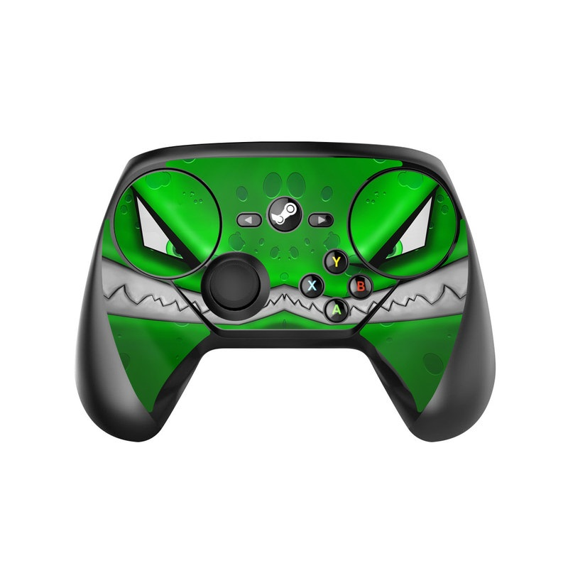Valve Steam Controller Skin design of Green, Font, Animation, Logo, Graphics, Games with green, white colors