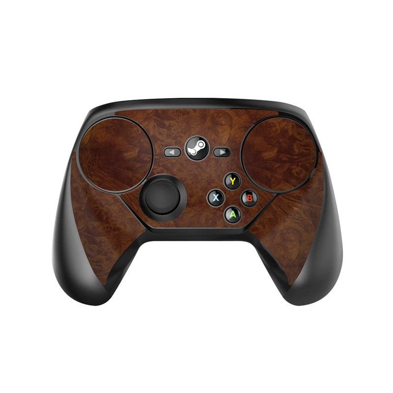 Dark Burlwood Valve Steam Controller Skin
