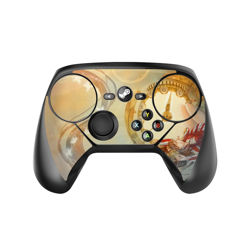 Valve Steam Controller Skin design of Illustration, Ceiling, Fictional character, Cg artwork, Art with gray, green, red, pink, yellow, black colors