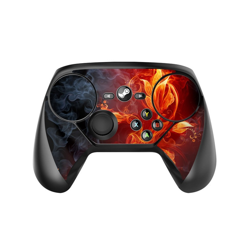 Valve Steam Controller Skin design of Flame, Fire, Heat, Red, Orange, Fractal art, Graphic design, Geological phenomenon, Design, Organism with black, red, orange colors