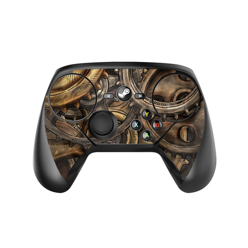 Valve Steam Controller Skin design of Metal, Auto part, Bronze, Brass, Copper with black, red, green, gray colors