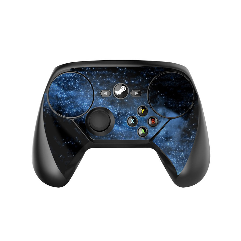 Valve Steam Controller Skin design of Sky, Atmosphere, Black, Blue, Outer space, Atmospheric phenomenon, Astronomical object, Darkness, Universe, Space with black, blue colors
