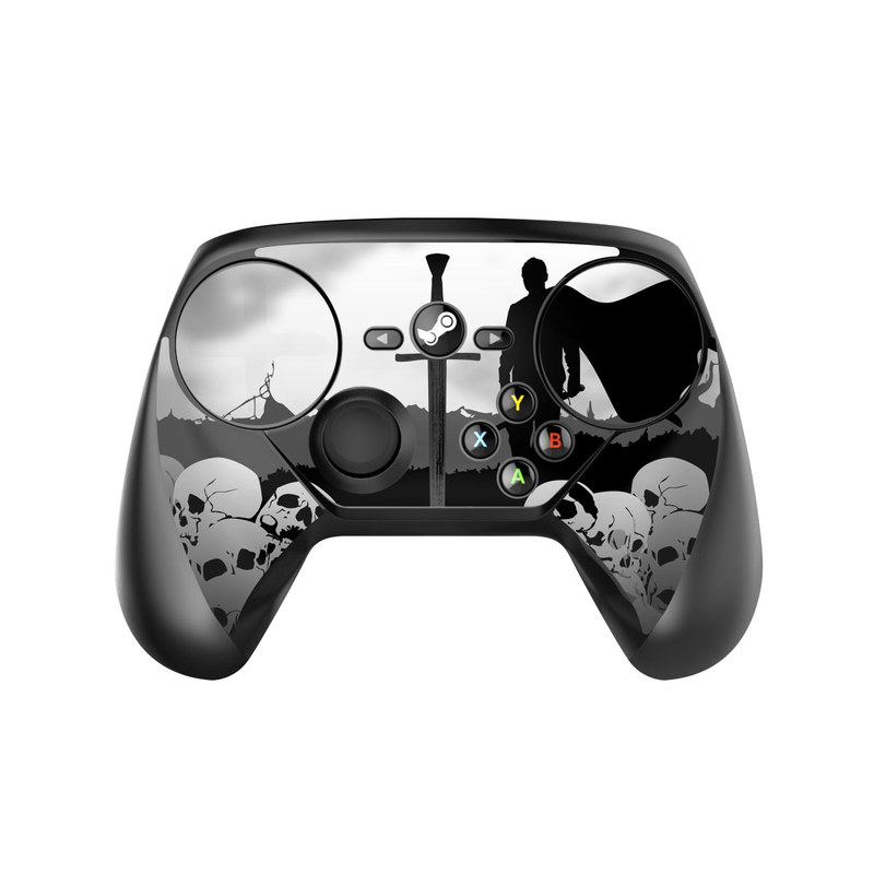 Valve Steam Controller Skin design of Sky, Silhouette, Black-and-white, Illustration, Atmosphere, Photography, Cloud, Monochrome, Monochrome photography, Rock with black, gray, white colors