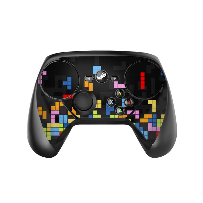 Valve Steam Controller Skin design of Pattern, Symmetry, Font, Design, Graphic design, Line, Colorfulness, Magenta, Square, Graphics with black, green, blue, orange, red colors
