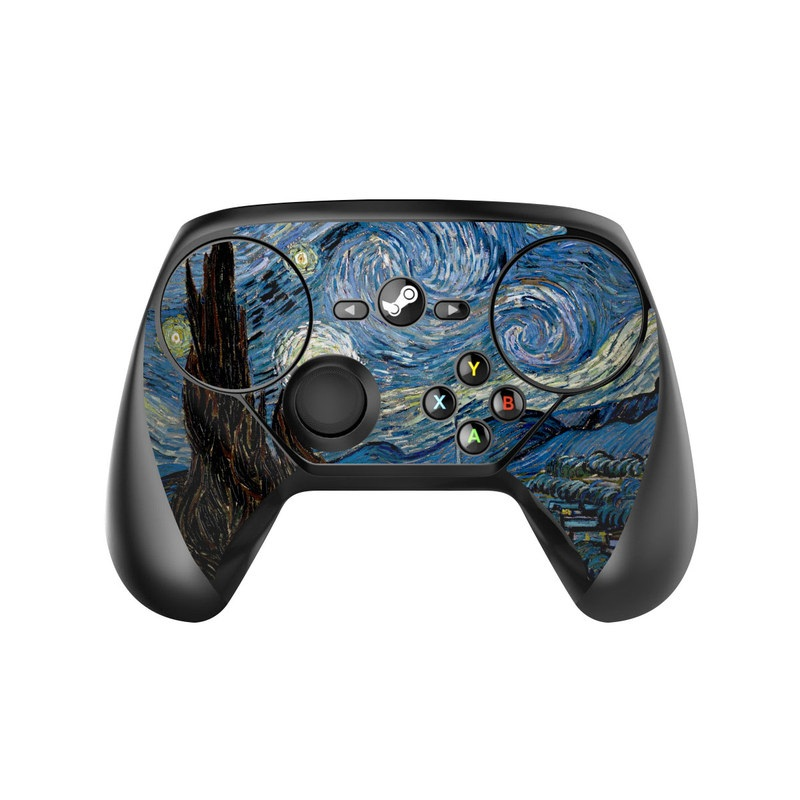 Valve Steam Controller Skin design of Painting, Purple, Art, Tree, Illustration, Organism, Watercolor paint, Space, Modern art, Plant with gray, black, blue, green colors