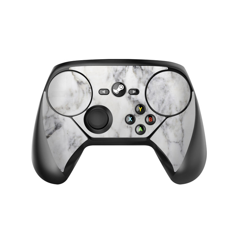 Valve Steam Controller Skin design of White, Geological phenomenon, Marble, Black-and-white, Freezing with white, black, gray colors