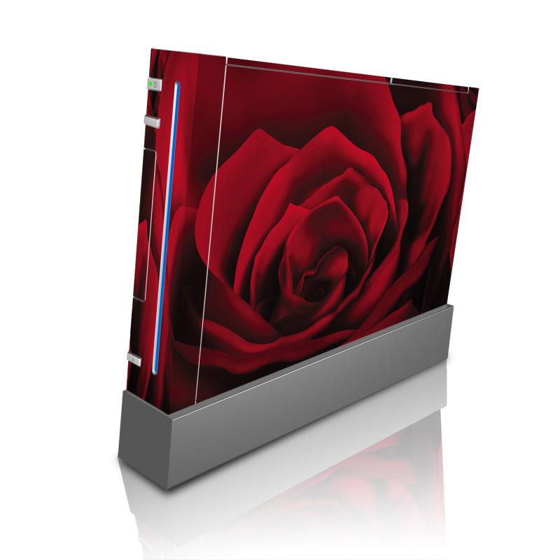 Wii Skin design of Red, Garden roses, Rose, Petal, Flower, Nature, Floribunda, Rose family, Close-up, Plant with black, red colors