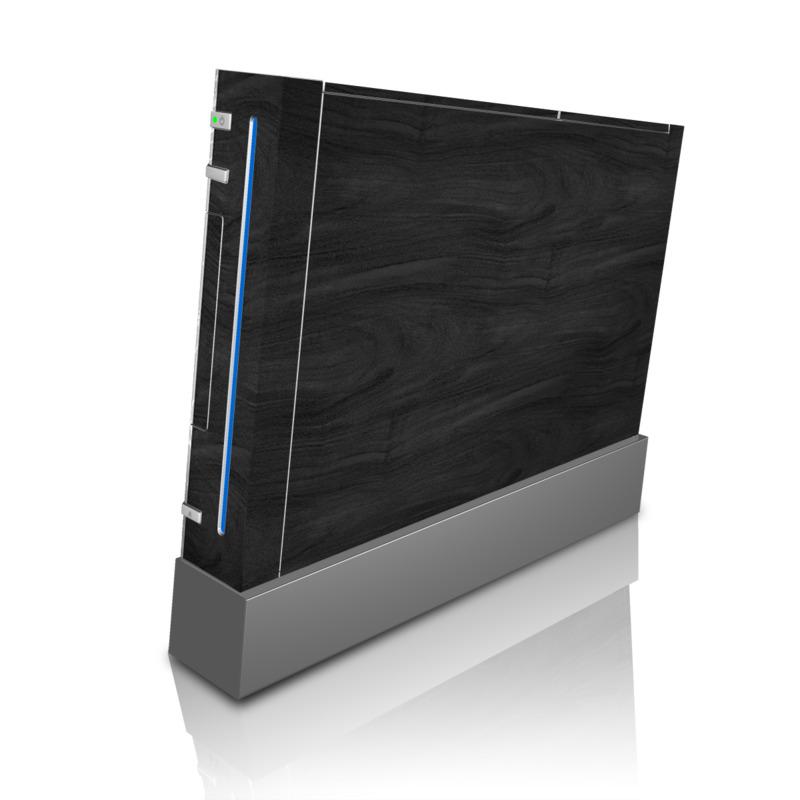 Wii Skin design of Black, Brown, Wood, Grey, Flooring, Floor, Laminate flooring, Wood flooring with black colors