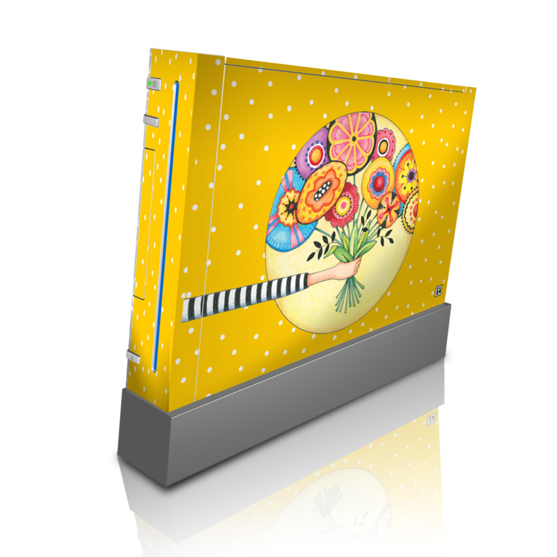 Wii Skin design of Circle, Illustration, Clip art, Plant with orange, yellow, pink, gray, green, black colors