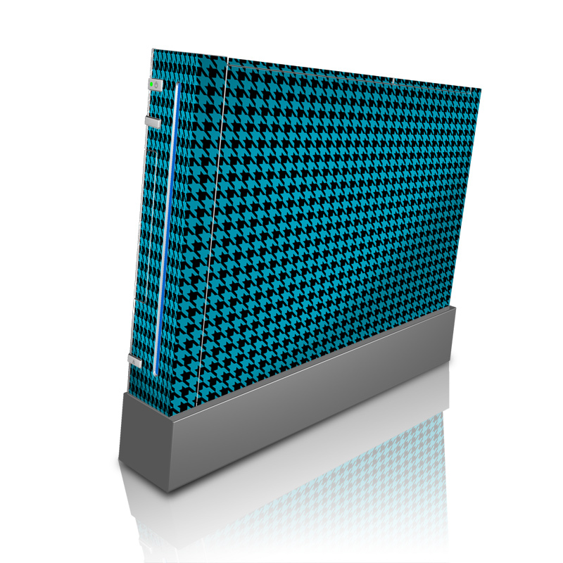 Teal Houndstooth Wii Skin
