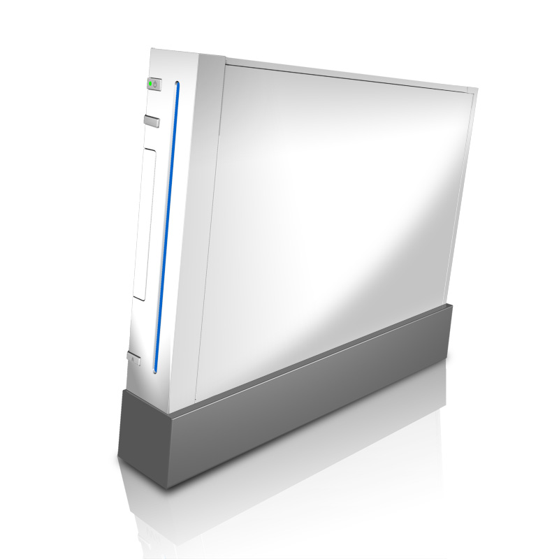 Solid State White Wii Skin