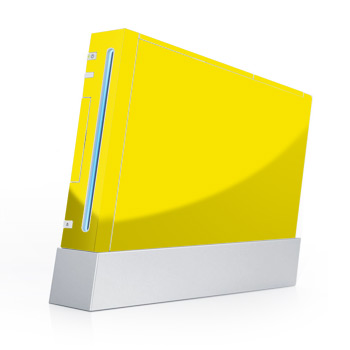Solid State Yellow Wii Skin