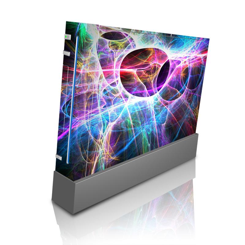 Wii Skin design of Fractal art, Light, Pattern, Purple, Graphic design, Design, Colorfulness, Electric blue, Art, Neon with black, gray, blue, purple colors