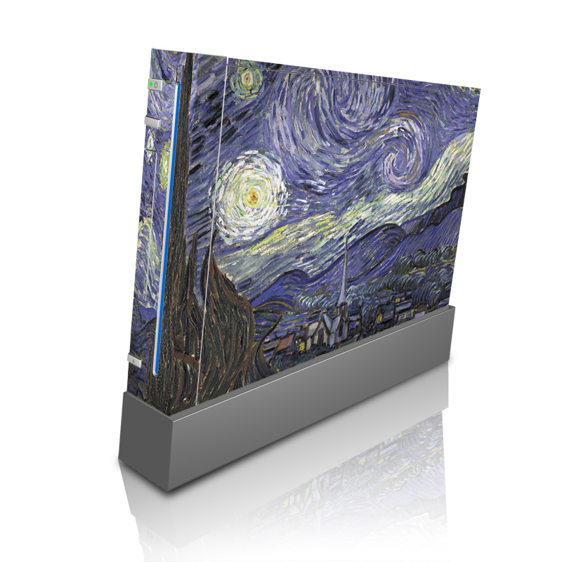 Wii Skin design of Painting, Purple, Art, Tree, Illustration, Organism, Watercolor paint, Space, Modern art, Plant with gray, black, blue, green colors