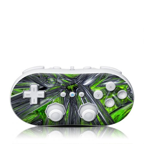 Emerald Abstract Wii Classic Controller Skin