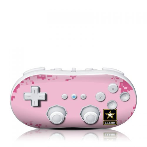 Army Pink Wii Classic Controller Skin