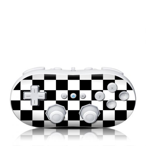 Checkers Wii Classic Controller Skin