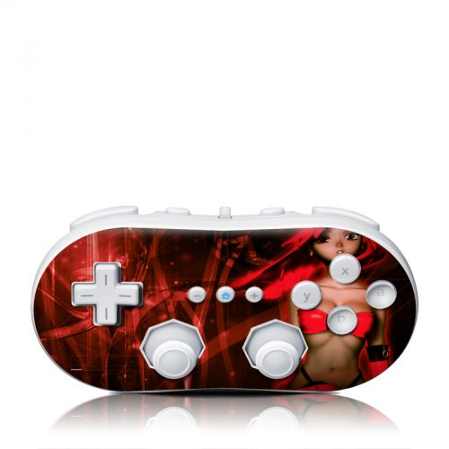 Ghost Red Wii Classic Controller Skin
