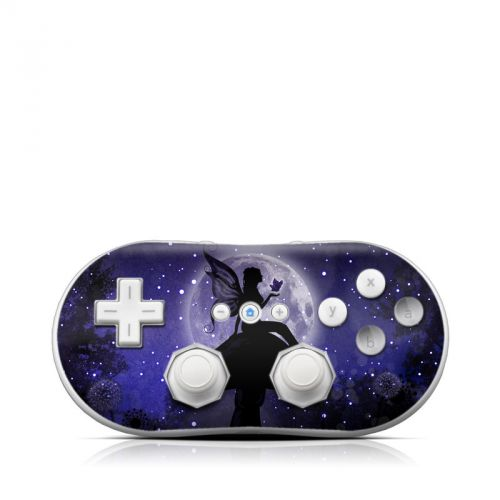 Moonlit Fairy Wii Classic Controller Skin