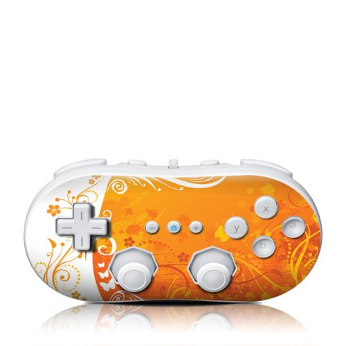 Orange Crush Wii Classic Controller Skin