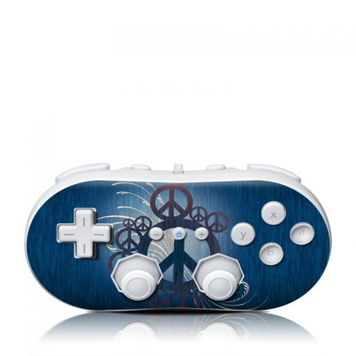 Peace Out Wii Classic Controller Skin