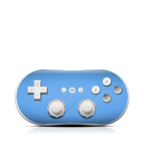 Solid State Blue Wii Classic Controller Skin