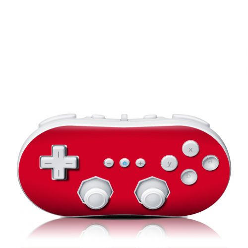 Solid State Red Wii Classic Controller Skin