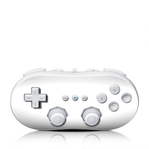 Solid State White Wii Classic Controller Skin
