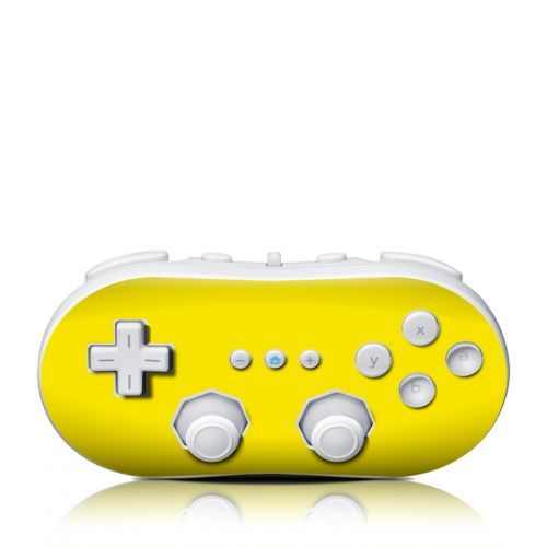 Solid State Yellow Wii Classic Controller Skin