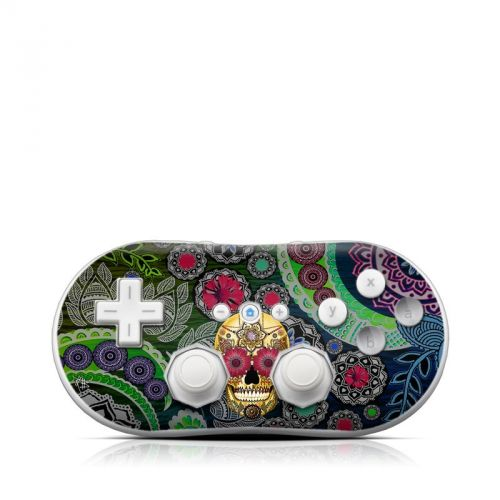 Sugar Skull Paisley Wii Classic Controller Skin