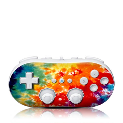 Tie Dyed Wii Classic Controller Skin