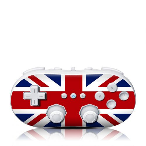 Union Jack Wii Classic Controller Skin