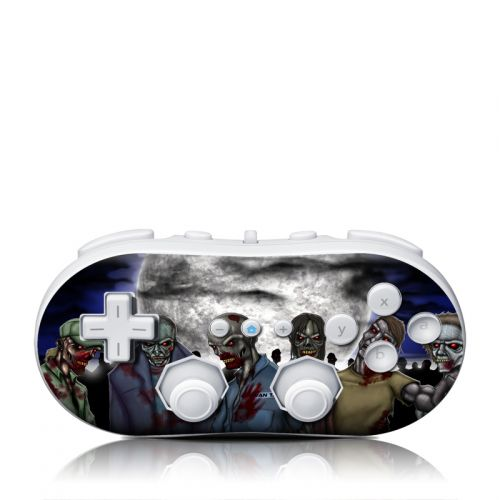 Undead Wii Classic Controller Skin