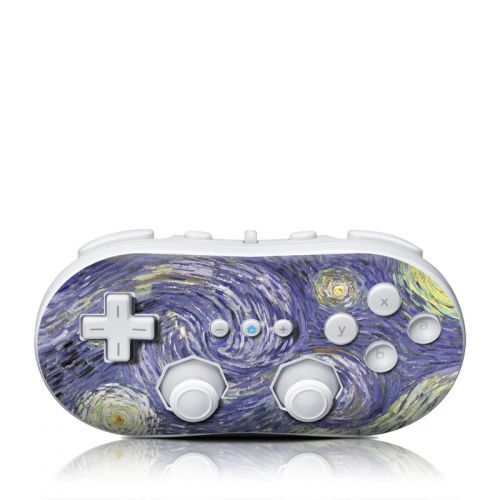 Van Gogh - Starry Night Wii Classic Controller Skin