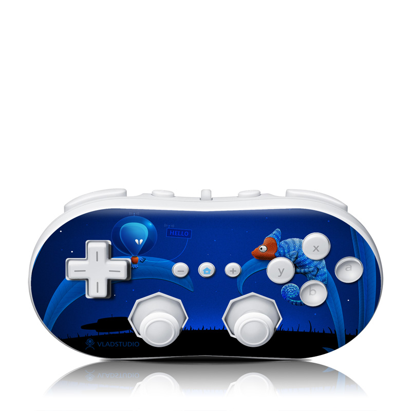 Alien and Chameleon Wii Classic Controller Skin