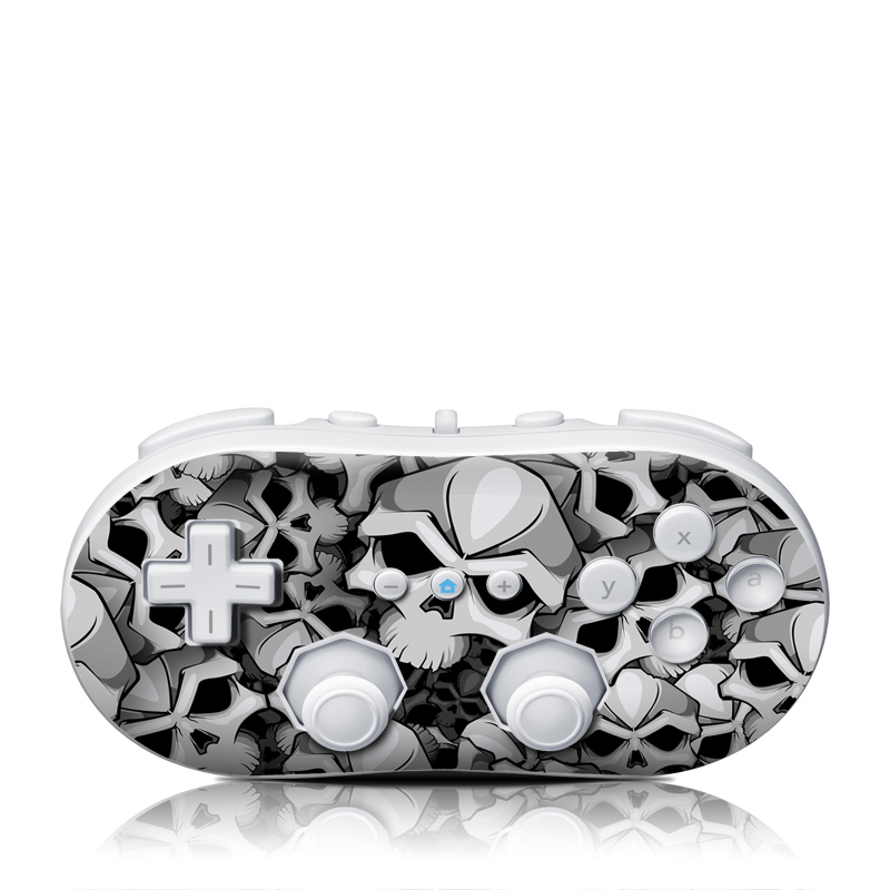 Wii Classic Controller Skin design of Pattern, Black-and-white, Monochrome, Ball, Football, Monochrome photography, Design, Font, Stock photography, Photography with gray, black colors