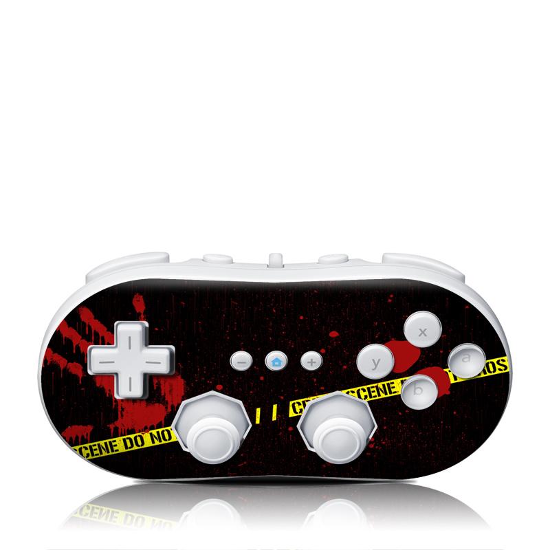 Crime Scene Wii Classic Controller Skin