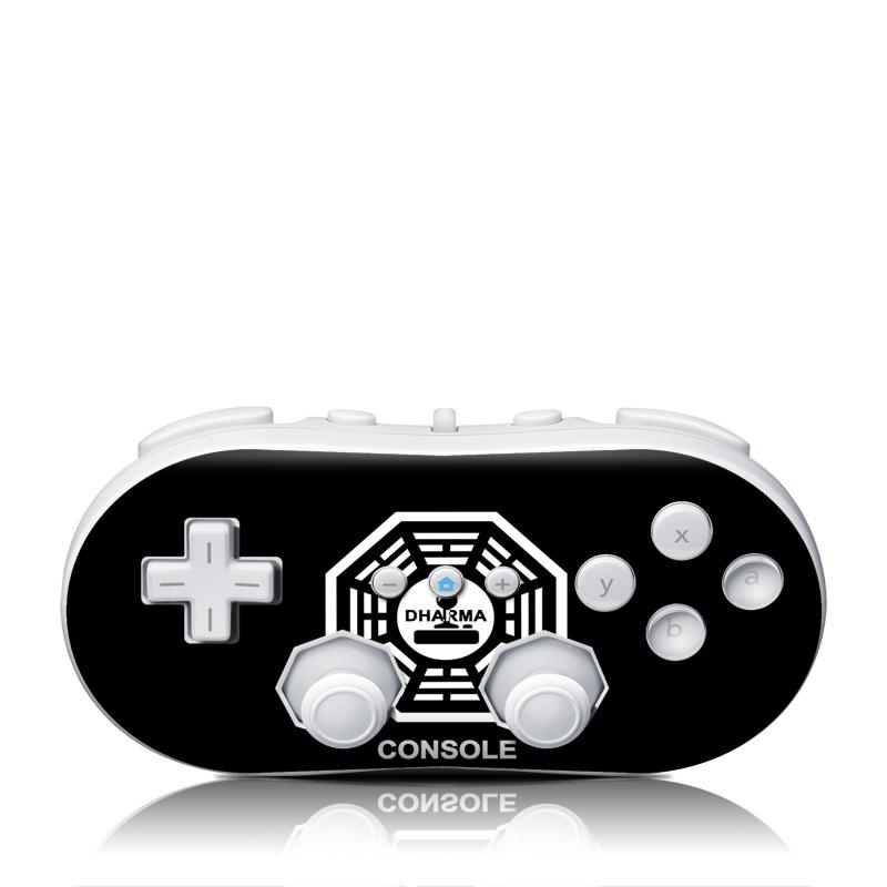 Dharma Black Wii Classic Controller Skin