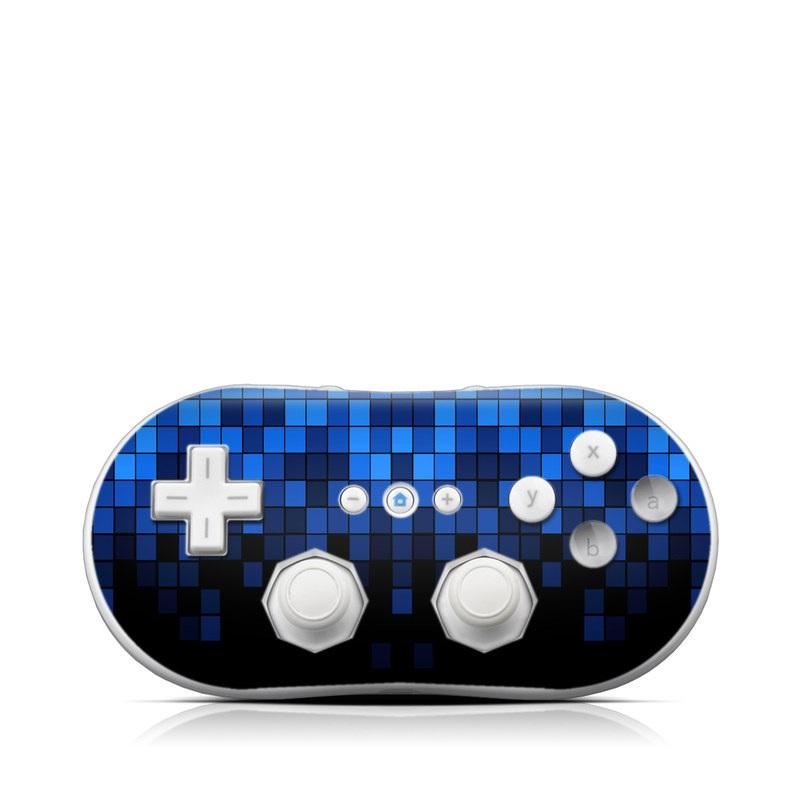 Wii Classic Controller Skin design of Cobalt blue, Blue, Electric blue, Violet, Black, Purple, Pattern, Symmetry, Azure, Majorelle blue with black, blue colors