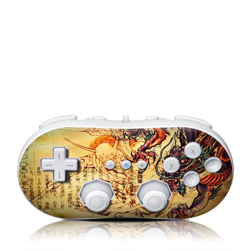 Dragon Legend Wii Classic Controller Skin