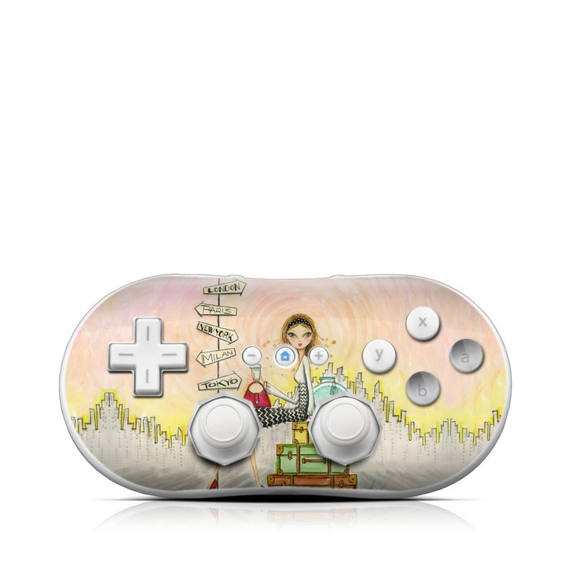 The Jet Setter Wii Classic Controller Skin