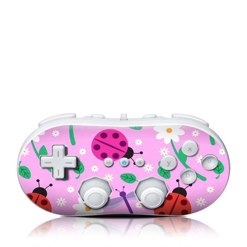 Ladybug Land Wii Classic Controller Skin