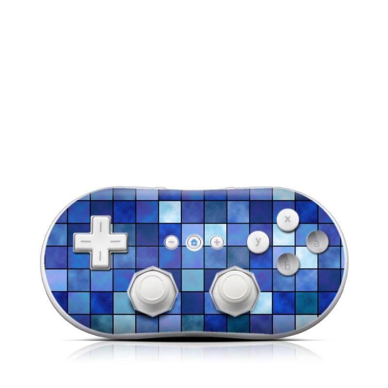 Blue Mosaic Wii Classic Controller Skin