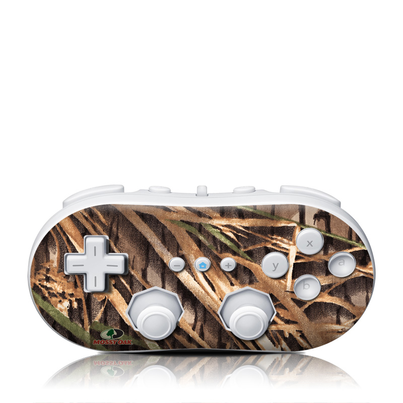 Wii Classic Controller Skin design of Plant, Grass, Grass family, Tree, Crop with black, gray, green, red colors
