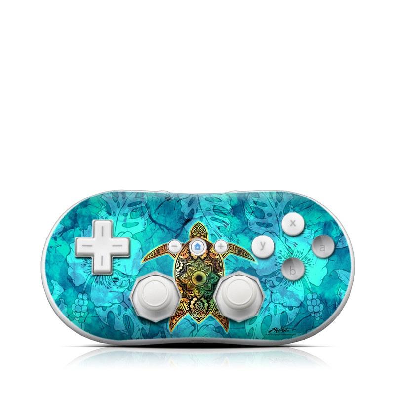 Sacred Honu Wii Classic Controller Skin