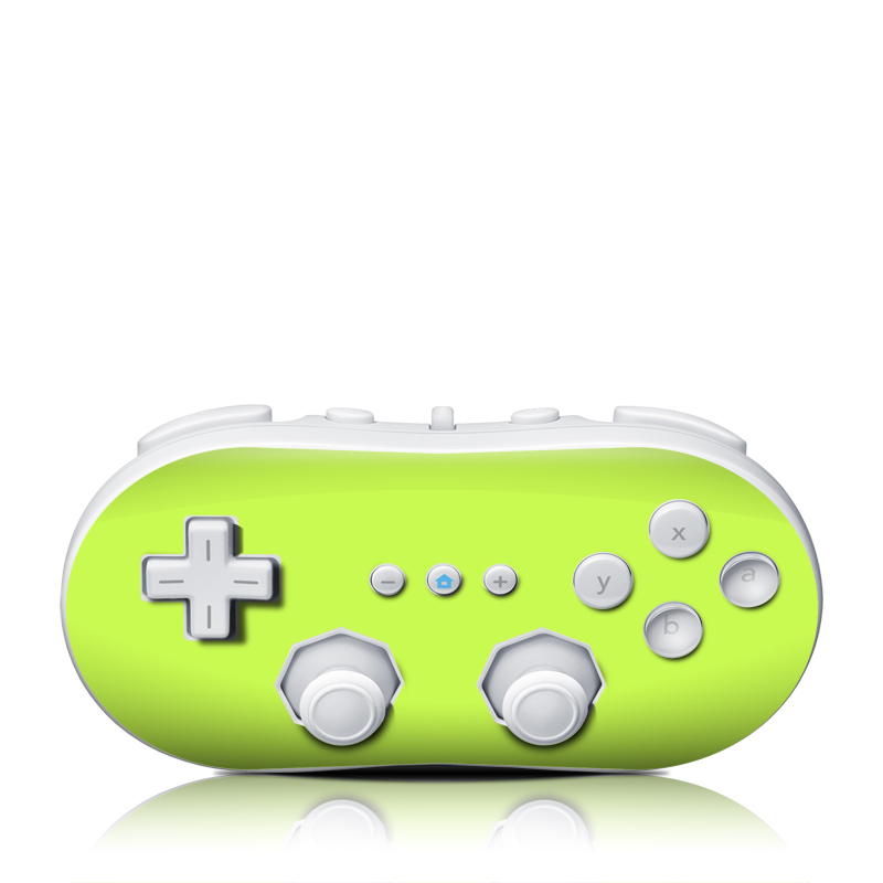 Solid State Lime Wii Classic Controller Skin
