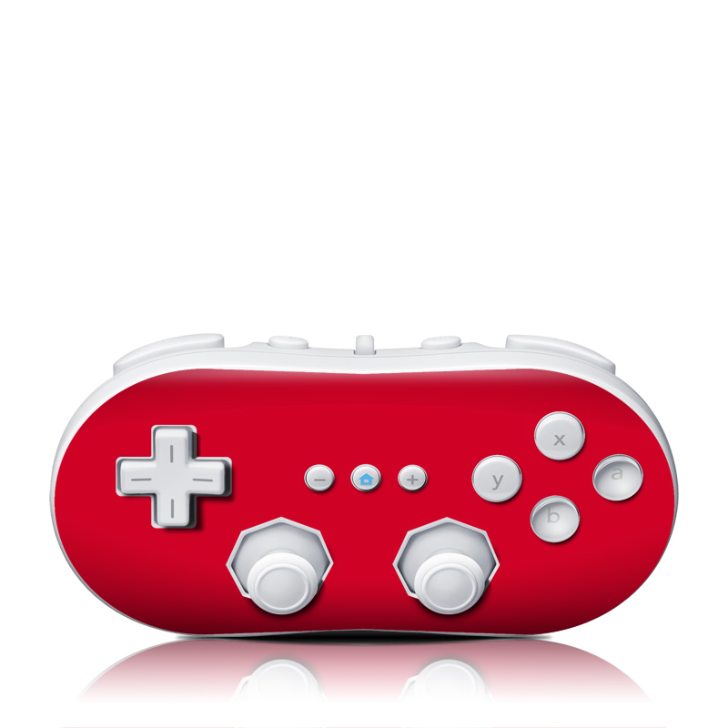 Wii Classic Controller Skin design of Red, Pink, Maroon, Purple, Orange, Violet, Magenta, Material property, Font, Peach with red colors