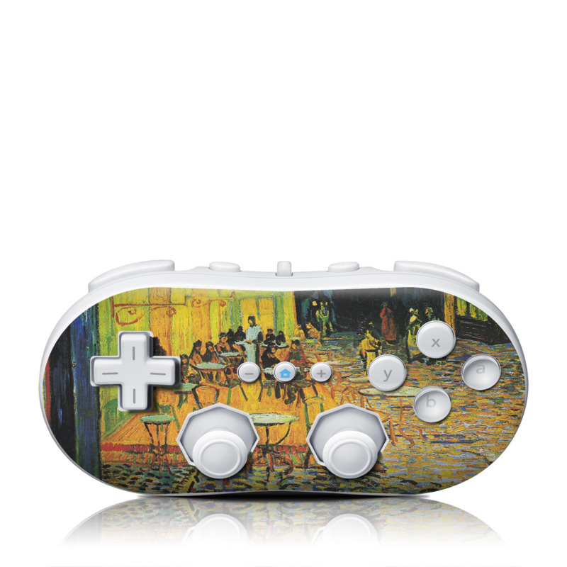Cafe Terrace At Night Wii Classic Controller Skin