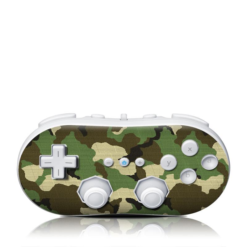Woodland Camo Wii Classic Controller Skin