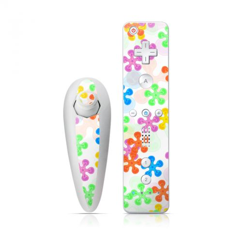 Flower Power Wii Nunchuk/Remote Skin